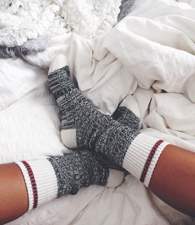 october mood board cozy socks