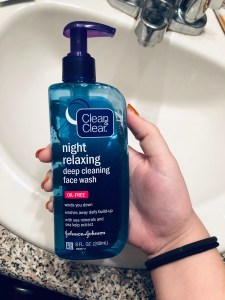 skincare routine cleanser