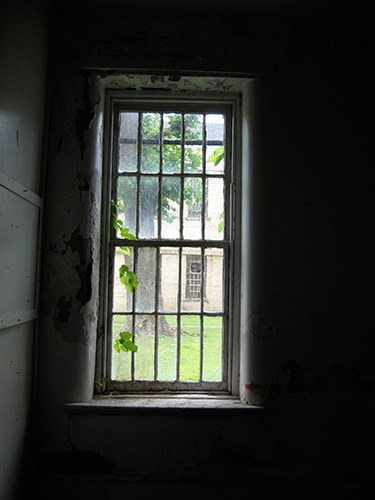 The view from inside a patient room.