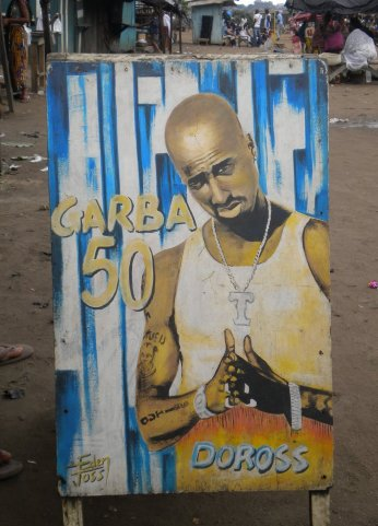 6.- Tupac, a favorite in Abidjan's street art.