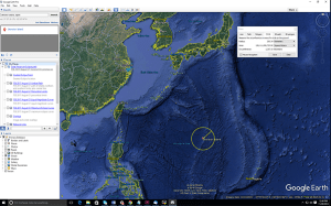 A 200-km circle drawn around Okinotorishima