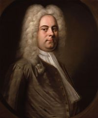 Portrait of German composer Georg Frideric Handel (1685-1759)