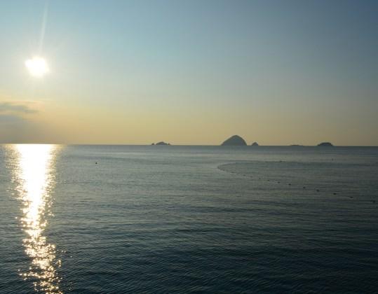 Three islands off the coast of Pentherain islands