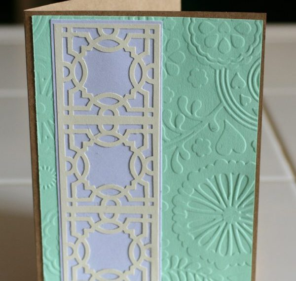 use your pasta machine with an embossing folder