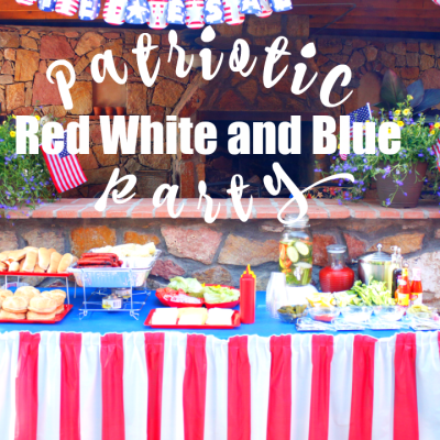 Patriotic Red White and Blue Party
