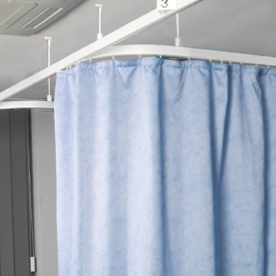 Cubicle Rails & Curtain Tracks category page & drop down pic
