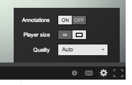 YouTube player options