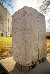 "Stele 1, 2010, 76""H, Wood Fired Indigenous Clay, Feldspathic Glaze. Collection: Everhart Museum, Scranton, PA"