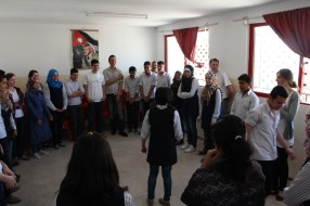 On the third day we held a program at a private school in Amman. As usual, we started off with an ice breaker game