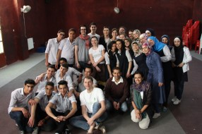 Group photo from Almansour school