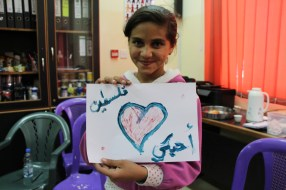 "She painted us a drawing saying ""Palestine I love you"""