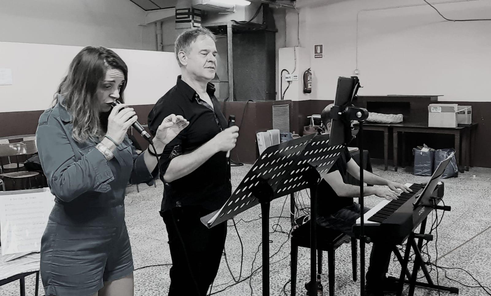 Charo Tris & Jordi Moncayo. Beat Symphony ensayo 01