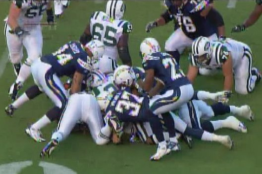 Chargers/Jets Man Pile