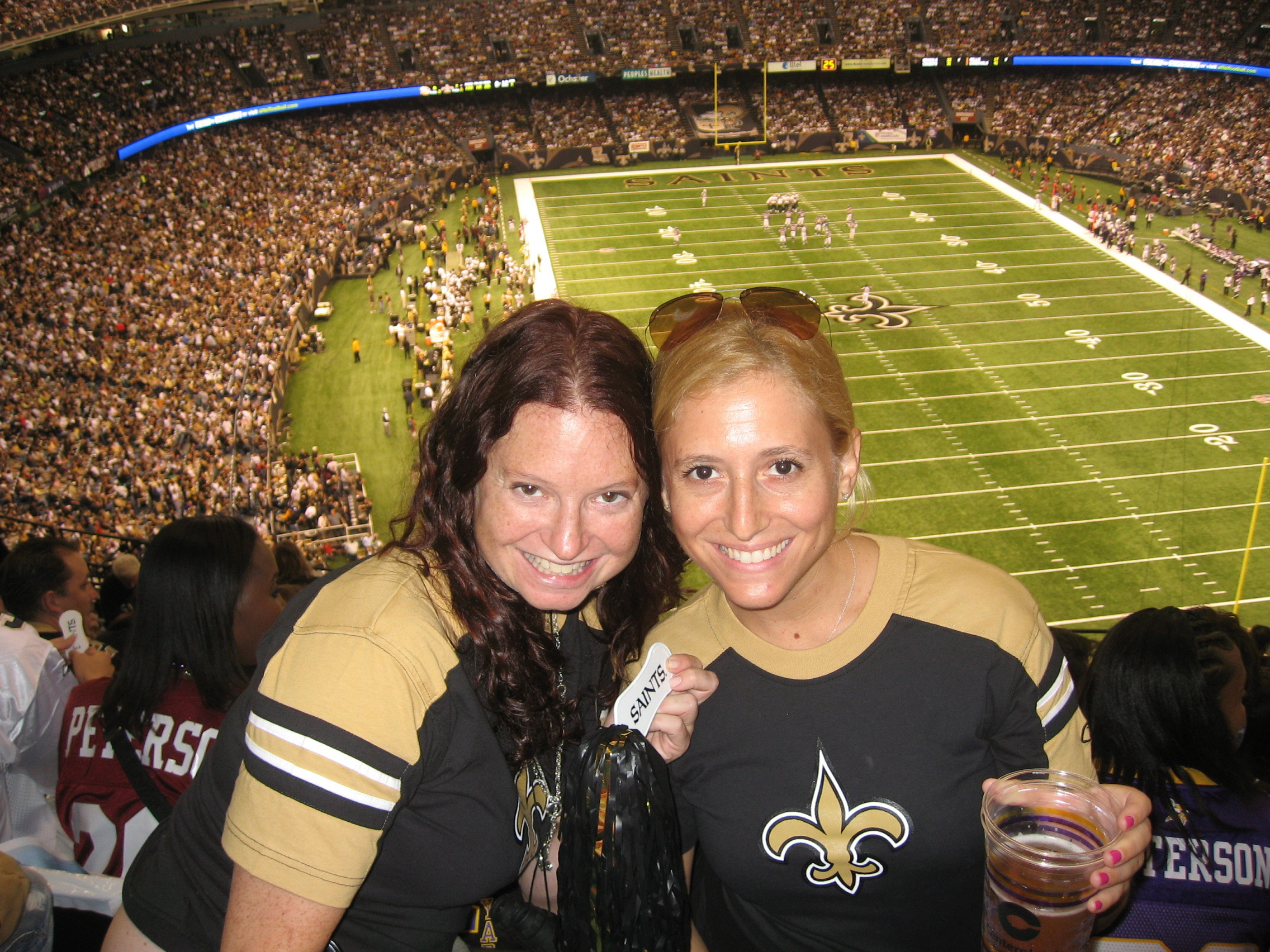 Bryna Stiefel and Jordan Zucker at the MNF Saints game - WHO DAT?!?!