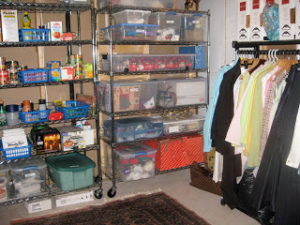 organized storage space