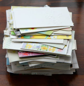 pile of greeting cards