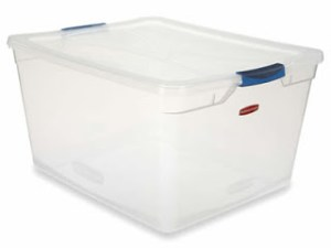 large clear storage bin