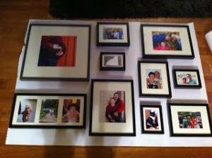 trace framed photos on paper