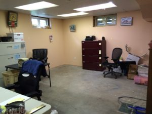 office space reclaimed from mess