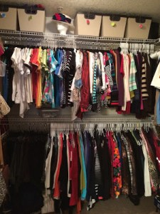 Infant Closet Organizing