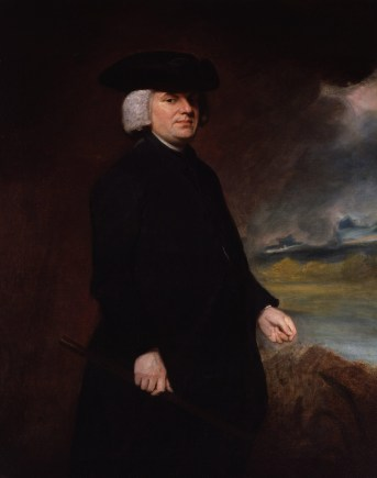 Retrato de William Paley, apologista del Diseño Inteligente con su obra Teología Natural. Su defensa de un diseñador que ha de estar por la indudable complejidad natural fue tomada de los argumentos de Tomás de Aquino.