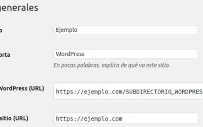 Dando a WordPress su propio subdirectorio pero que se vea como si estuviera en la raíz del sitio web