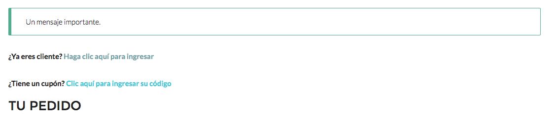 Cómo agregar un mensaje en el checkout de WooCommerce