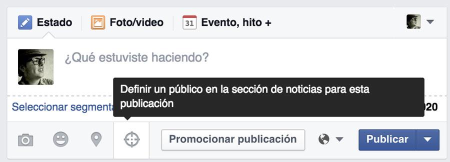 definir un publico para publicaciones facebook