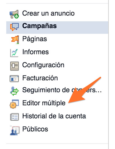 editor multiple anuncios facebook