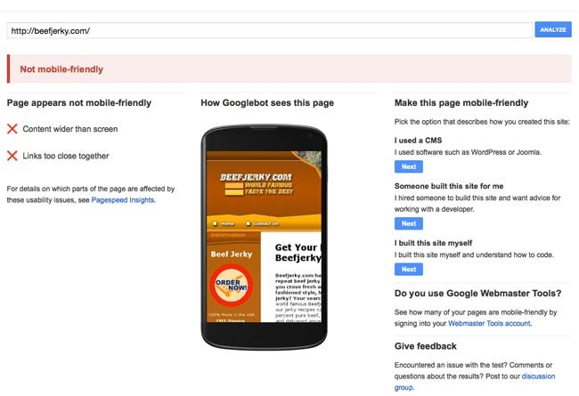 prueba mobile friendly google