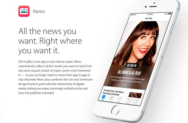 agregar contenido a apple news