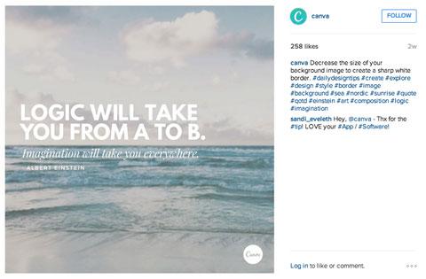 compartir citas en instagram