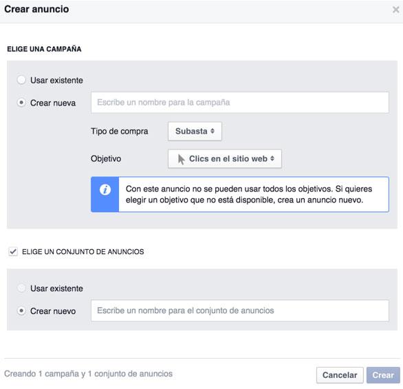 crear anuncio publicaciones ocultas facebook