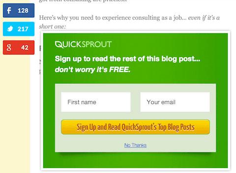 bloquear contenido para mejorar conversiones