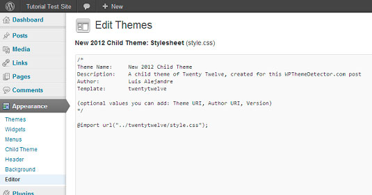 como crear un child theme en wordpress