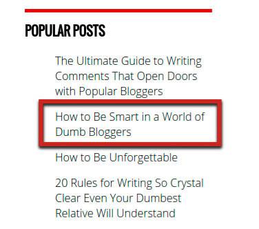 mejorar articulos populares