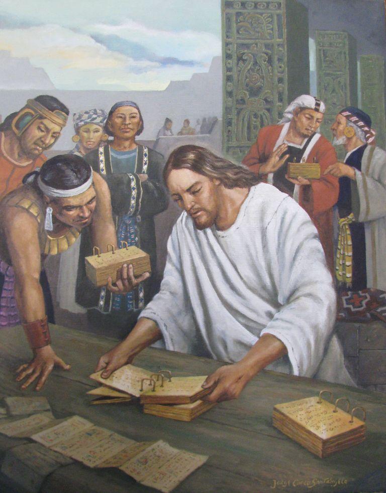 Cristo revisa las planchas