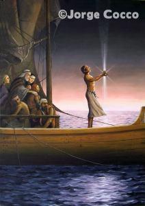 Nefi en el barco