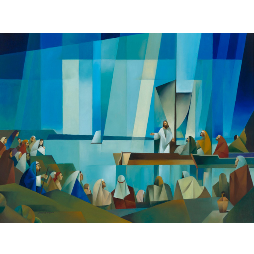 Jesus preaching from a boat