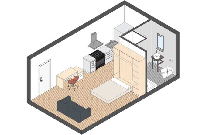Micro Apartments Minimum Apartment Size