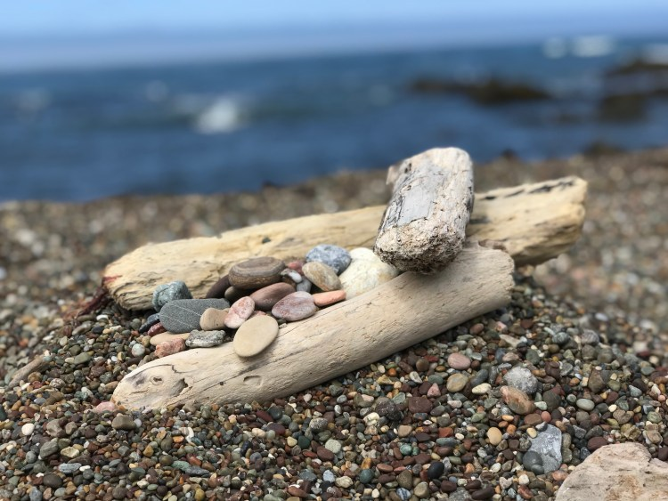 driftwood and moonstones