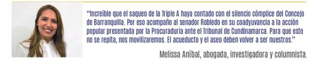 Periodico ¡No más! El saqueo a la Triple A de Barranquilla Página 4.