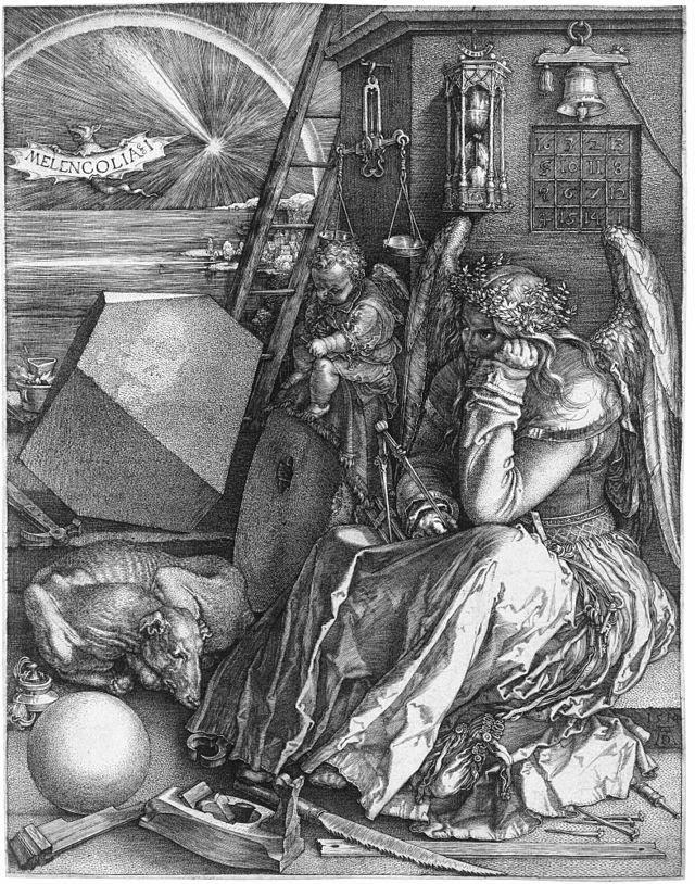FAPO:__ACTIVIDADES__:__INVESTIGACIÓN__:Escritura_Tesis:_TESIS_:__casos_2a_MITAD:__nvas_otros_autores:640px-Dürer_Melancholia_I.jpg