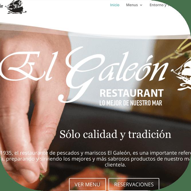 Sitio web de restaurante