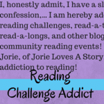 Reading Challenge Addict badge created by Jorie in Canva