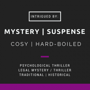 Blog About Mystery | Suspense badge created by Jorie in Canva