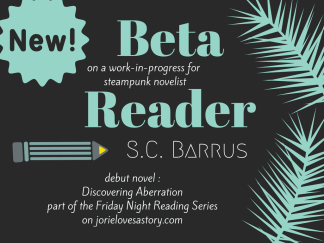 Beta Reader Badge created by Jorie in Canva