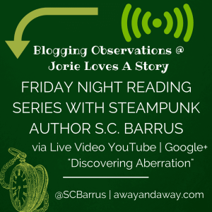 Friday Night Reading Series badge created by Jorie in Canva