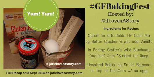 #GFBakingFest Ingredients by Jorie in Canva