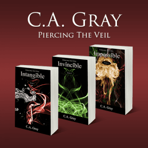 C.A. Gray Piercing the Veil series Promo Badge